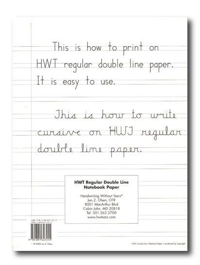 Lined Paper for Handwriting Without Tears for Level 2 and 3 ...