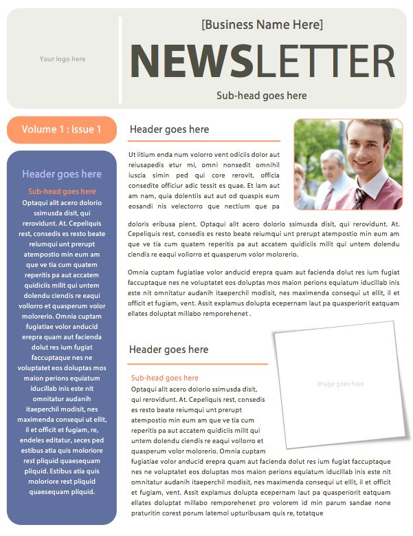 Microsoft Word Newsletters – DIY Design Templates