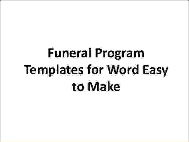 6 free printable funeral program templateAgenda Template Sample ...