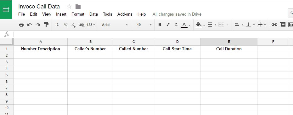 How to import call tracking data straight into a Google Sheet
