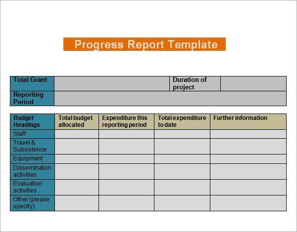 Progress Report Templates - 7+ Free Documents in PDF, Word