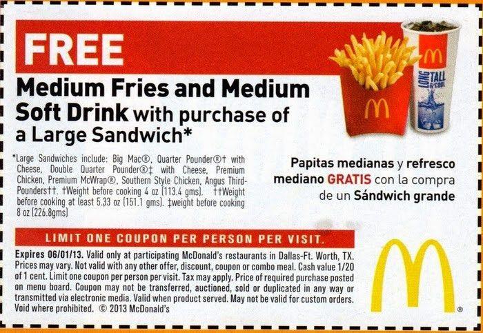Mcdonalds discount coupon 2017
