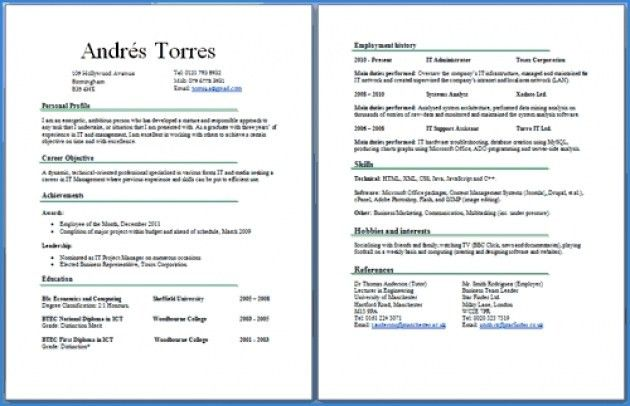 2 Page Resume Samples - Best Resume Collection