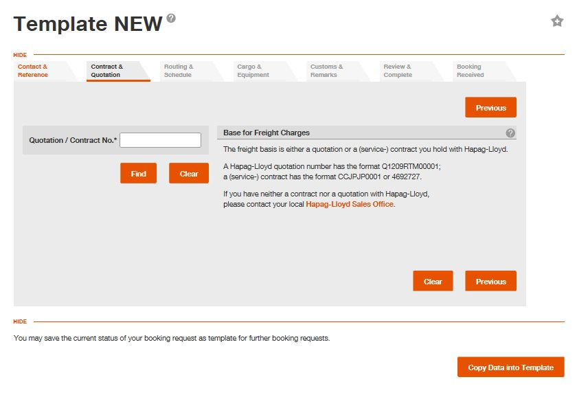 User Guide: Copy Data into Template - Hapag-Lloyd