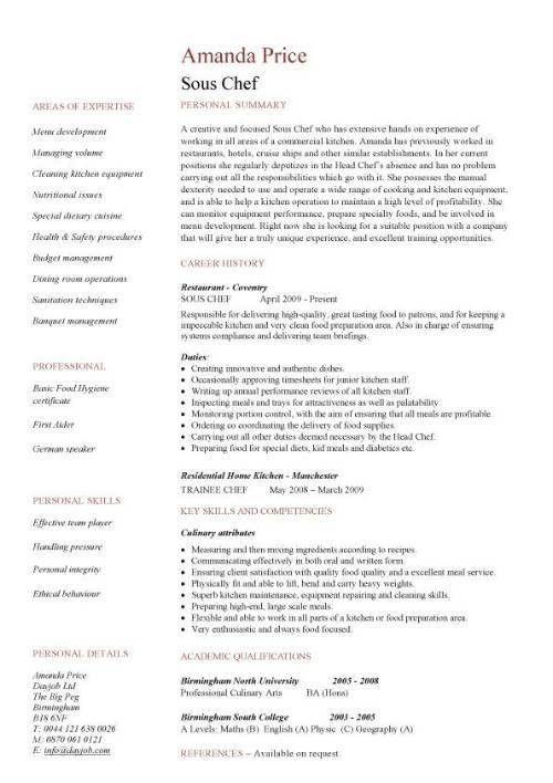 Download Chef Resume | haadyaooverbayresort.com