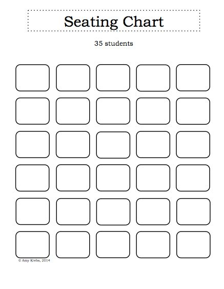 School Seating Chart Template | Most Improved Award Template