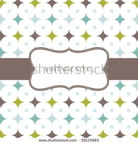 Template Frame Design Greeting Card Stock Vector 58127377 ...