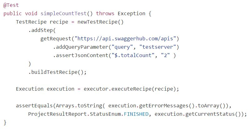 Java Test Recipe Example for API Test Automation | TestServer