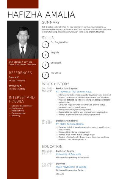 Production Engineer Resume samples - VisualCV resume samples database