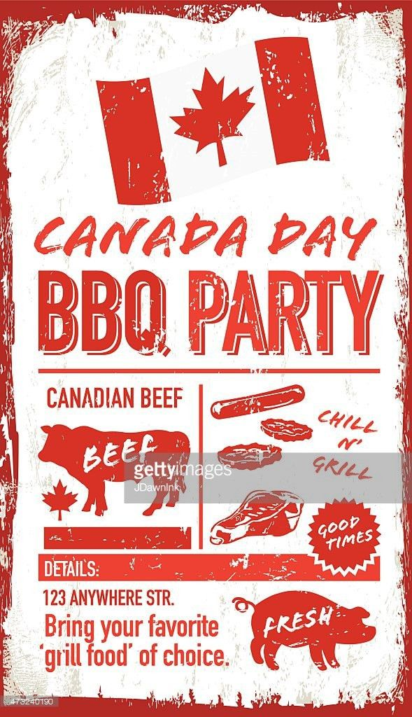 Canada Day Celebration Picnic Invitation Design Template Vector ...