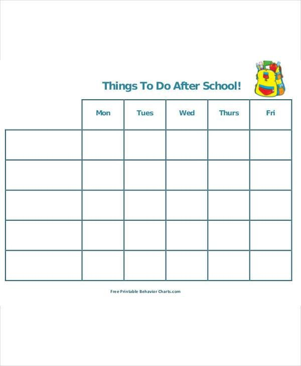 5+After School Schedule Templates - 5+ Free Word, PDF Format ...