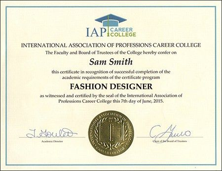 Fashion Designer Certificate Course Online