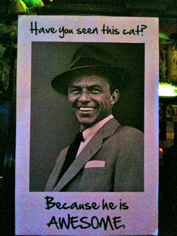 Frank Sinatra Missing - CollegeHumor Post