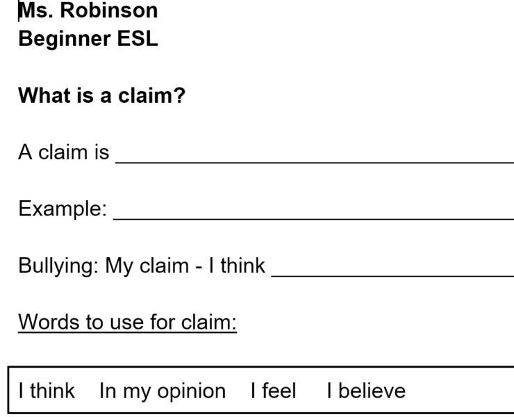 Cyberbullying Claim/Counterclaim/Refutation Lesson - LessonPick