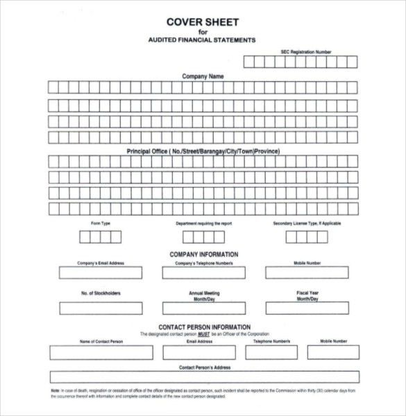 Blank Cover Sheet – 10+ Free Word, PDF Documents Download! | Free ...