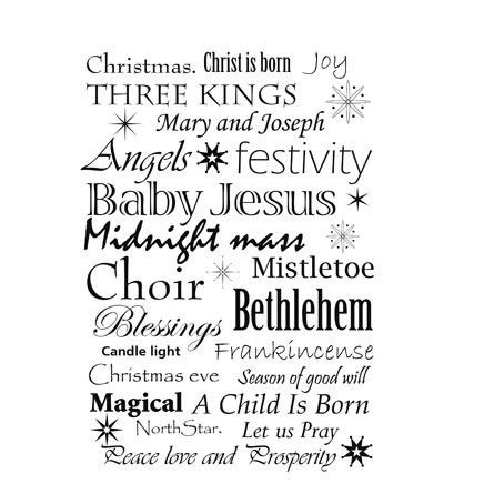 Lavinia Stamps Ltd – Christmas words