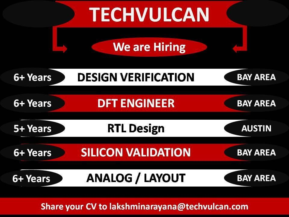 Hiring Hardware Design Engineers for Bay Area and Austin locations