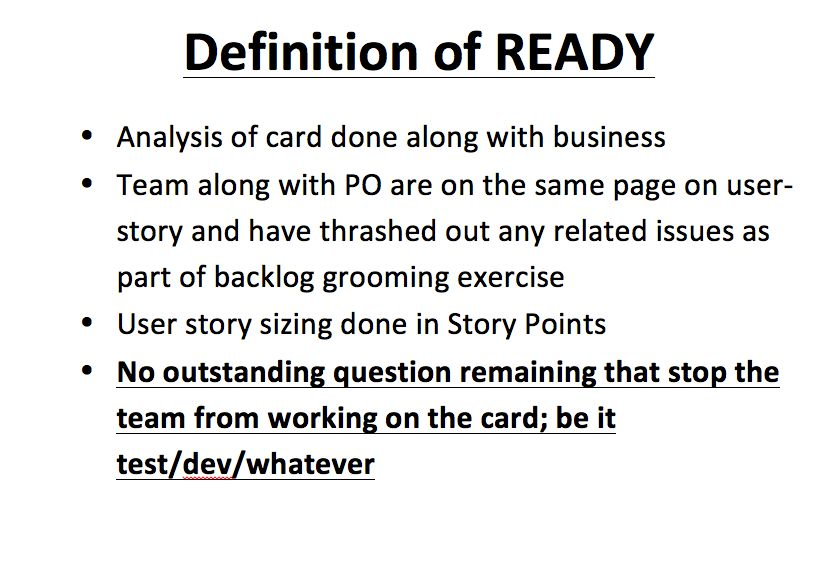 "Improve Sprint Throughput with ""Definition of Ready"""