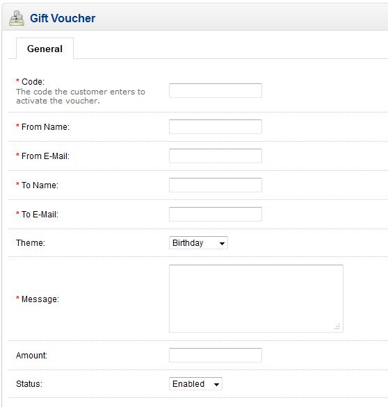 Creating a Voucher in OpenCart 1.5 | Web Hosting Hub