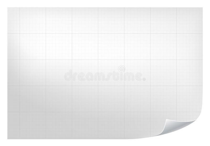 Technical Grid Background. Realistic Blank Paper With Square Grid ...