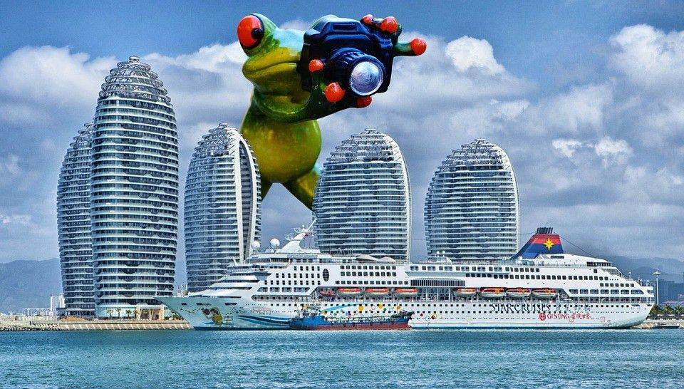 Free photo Giant Cruise Ship Funny Ship Frog Photographer - Max Pixel