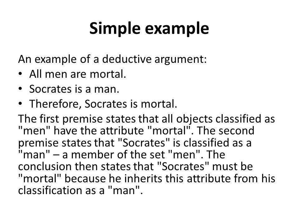 Deductive reasoning. - ppt download