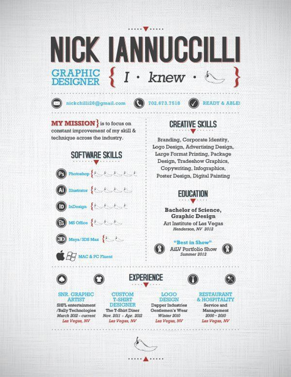 43 best Resumes images on Pinterest | Resume ideas, Cv design and ...