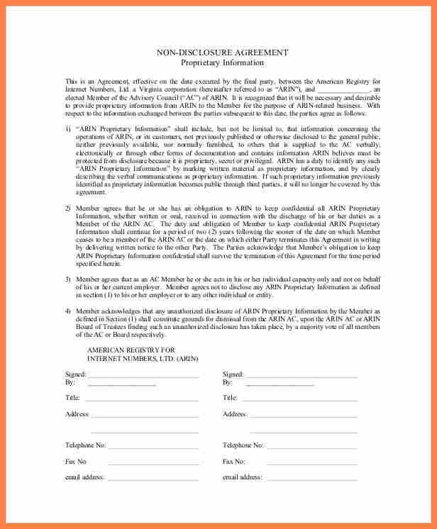 5+ basic non disclosure agreement template | Purchase Agreement Group