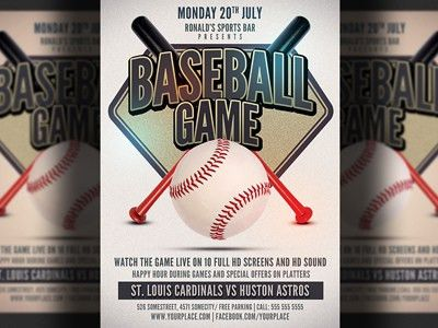 Baseball Game Flyer Template by Christos Andronicou - Dribbble