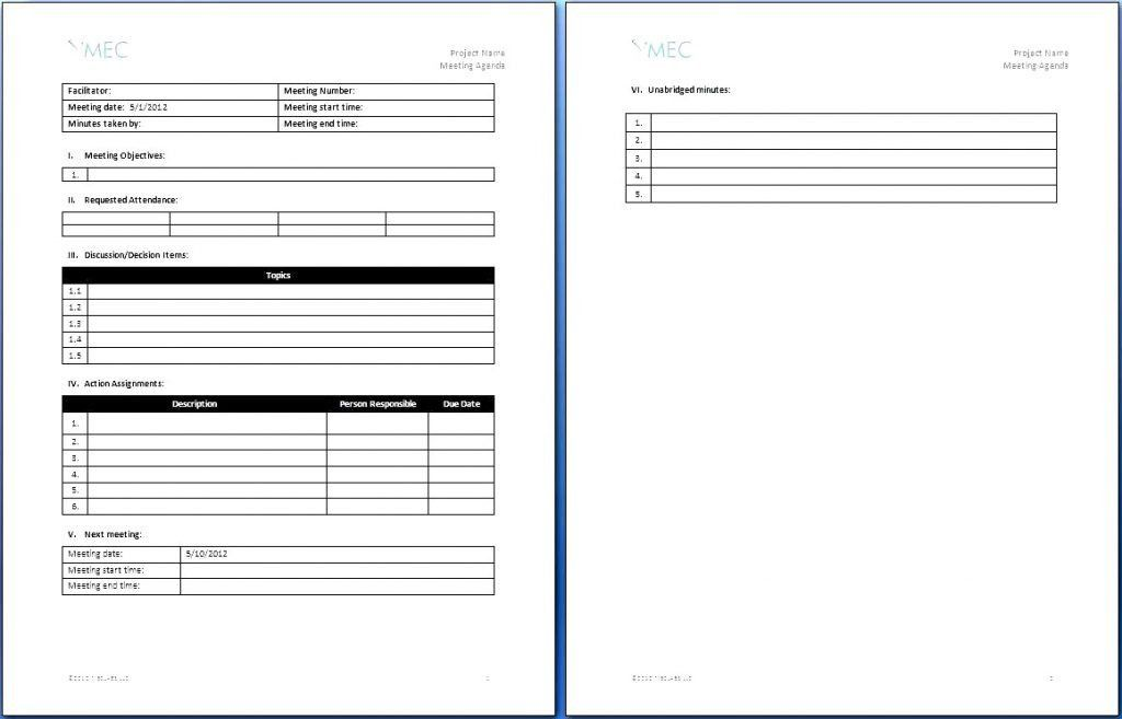 Sponsorship Contract Template. It Template Of An Agenda Salary ...
