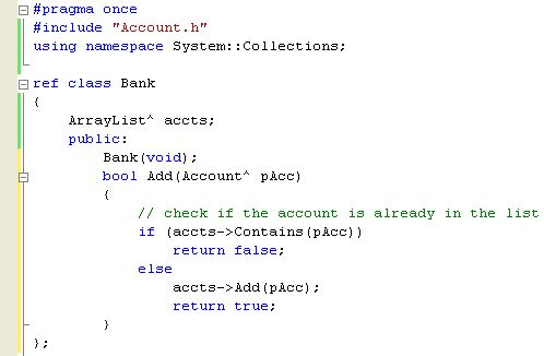 The C++ .NET program example tutorial on how to add accounts to ...