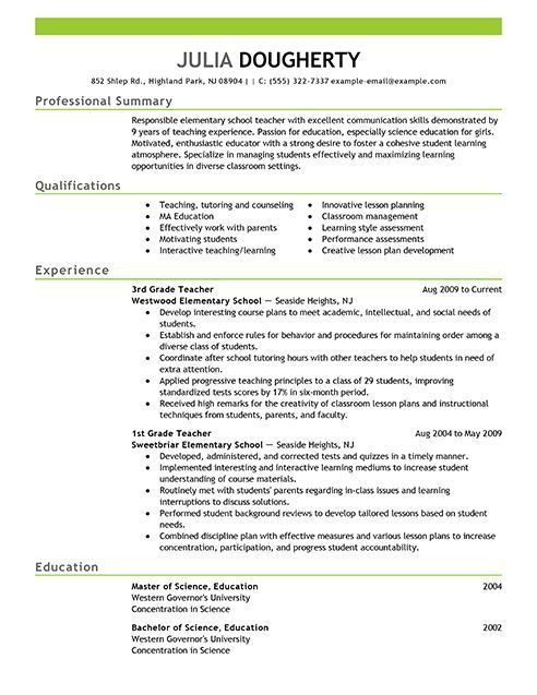 format of teacher resume teacher resume samples writing guide