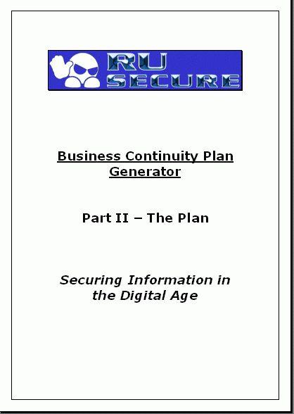 Business plan title