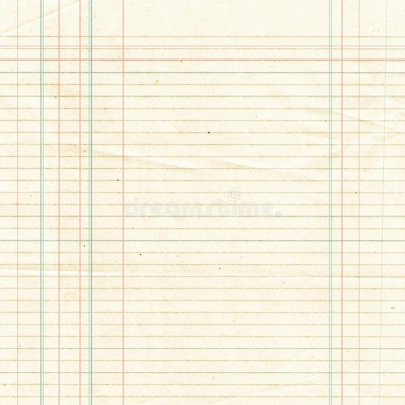 Sepia Lined Paper Sheet Background Or Textured Royalty Free Stock ...