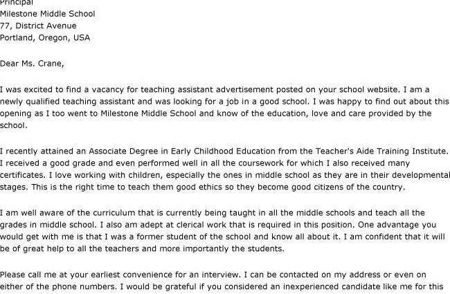 Sample Cover Letter For Teaching Position inside ucwords ...