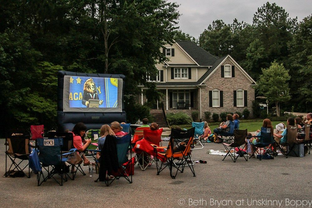 Host a Neighborhood Outdoor Movie Night + Free Printable ...