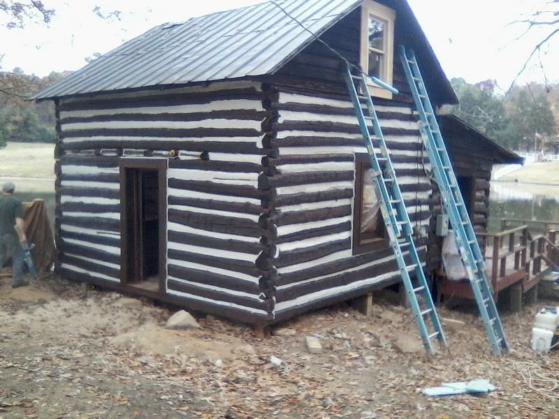 Log Home Cleaning, Staining & Restoring in Virginia, Repair Cedar ...