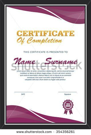 Modern Certificate Appreciation Creative Template Stock Vector ...