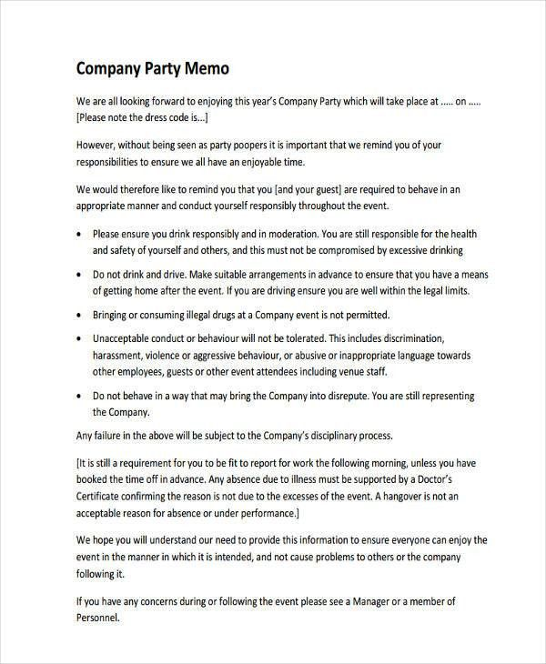 8+ Company Memo Examples, Samples
