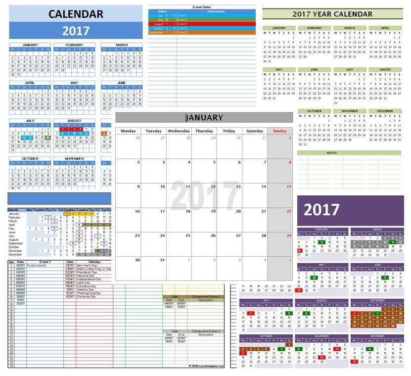 Office Calendar Template. Download Event Checklist And Timeline ...