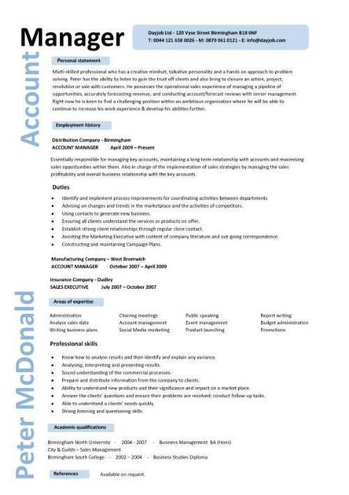 10 Account Manager Resume Sample & Template - Writing Resume ...