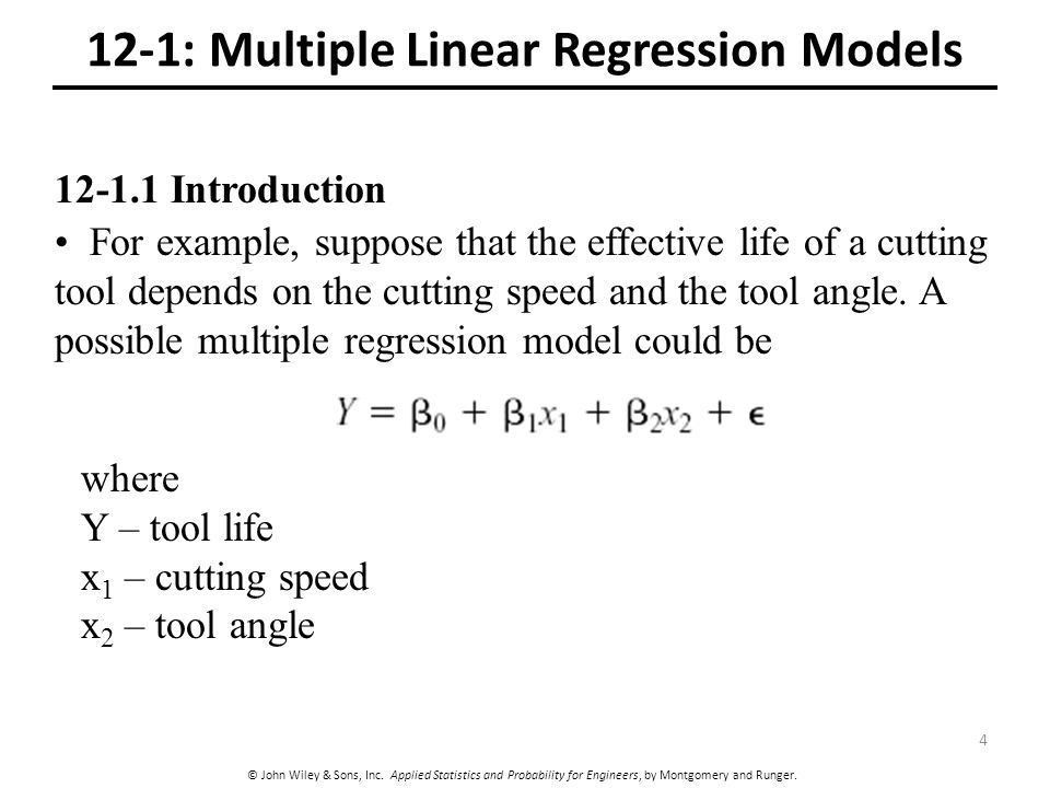 12 Multiple Linear Regression CHAPTER OUTLINE - ppt video online ...