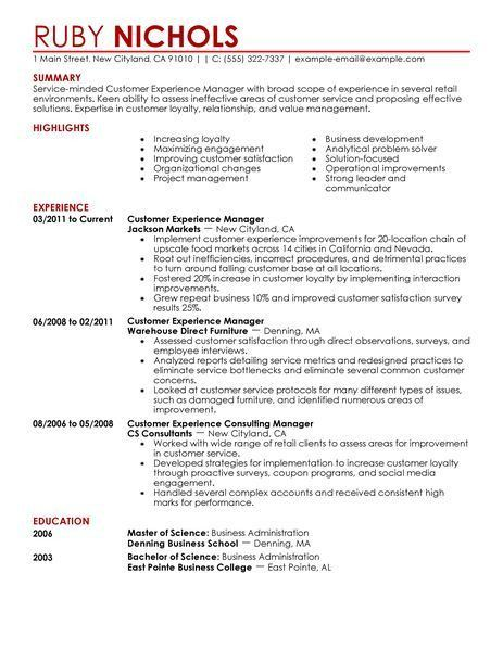 Customer Service Experience Resume 13 Customer Service ...