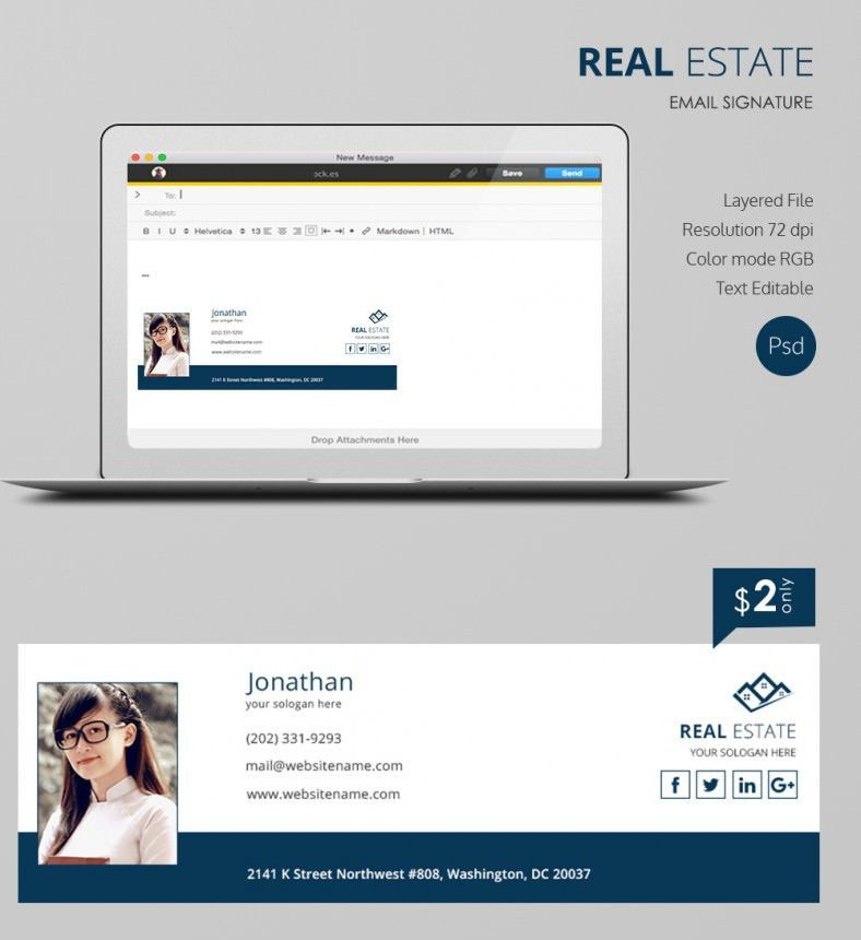 Real Estate eMail Signature   Free & Premium Templates