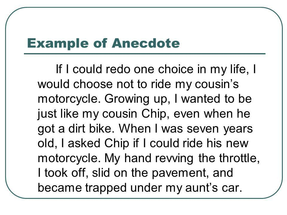 anecdote example using an anecdote in an introductory paragraph using an anecdote in an introductory paragraph ppt