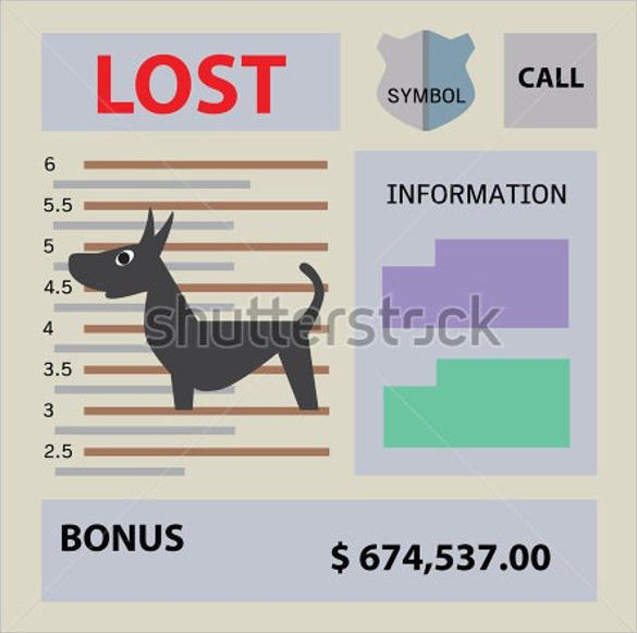 Lost Dog Flyer Template - 7+ Download Documents in Vector EPS, PSD