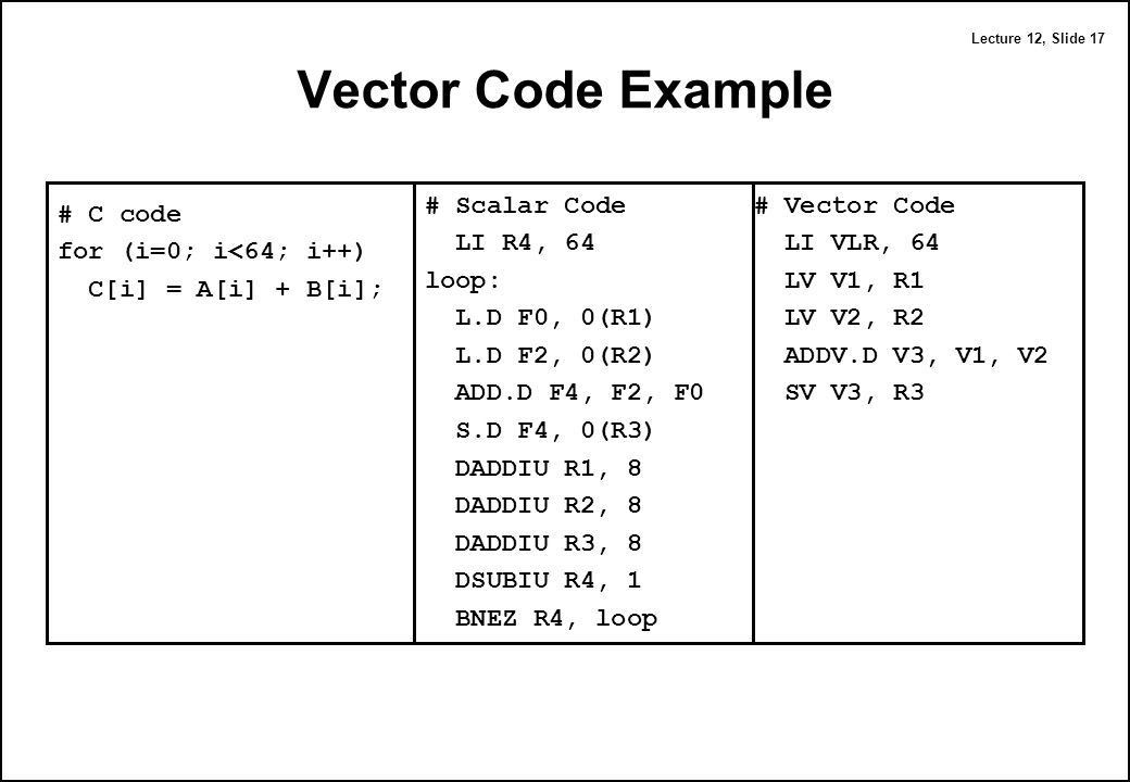 Computer Architecture Vector Computers - ppt download