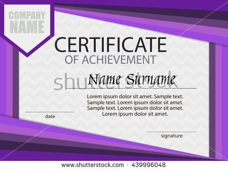 Vector Certificate Diploma Template Award Winner Stock Vector ...