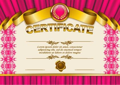 Certificate design template background free vector download ...