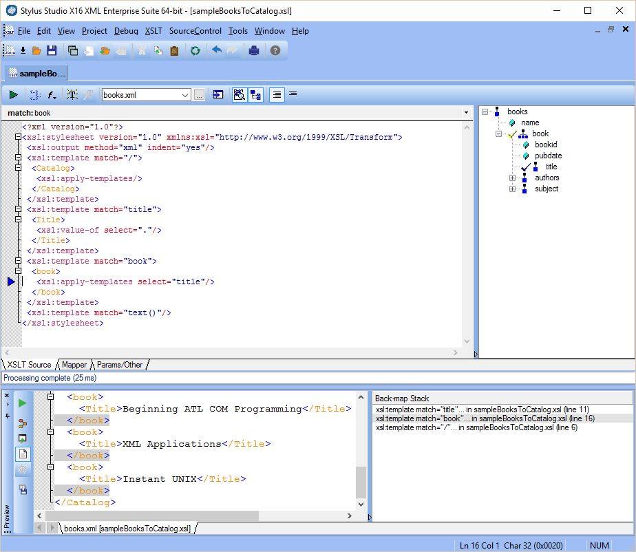 Stylus Studio – XSLT Back-Mapping - Stylus Studio Blog